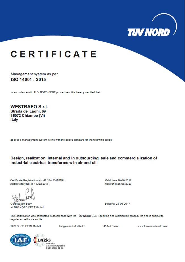Westrafo obtains ISO 14001 Quality Certification   Westrafo - Medium ...